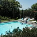 Les Volets Bleus à Arcangues, la belle piscine